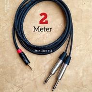 BAYAR DITEMPAT Jack 3,5 mini stereo to dual jack akai mono kabel canare 2 meter