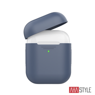 AHAStyle AirPods 1&2代矽膠保護套-深藍色 1.4mm超薄款