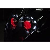 雷霆 RACING 改裝 魚眼大燈 HID 模組 總成 LED 光圈 惡魔眼 電鍍飾圈