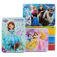 鐵盒益智拼圖❅▩木質拼圖100片200片鐵盒兒童益智4-6歲男孩智力開發10歲女孩公主