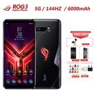 """2020 ใหม่ASUS ROGโทรศัพท์ 3 Strix 5Gสมาร์ทโฟน 12GB 128GB Snapdragon 865 6.59 """"6000mAh 64MP NFCยี่ห้อ 5Gเกมโทรศัพท์มือถือ"""