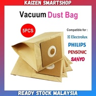 Vacuum Cleaner Bag Dust Bag Replacement 5Pcs ELECTROLUX PENSONIC PHILIPS SANYO