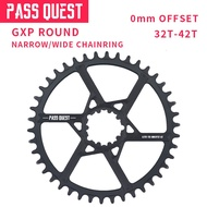 Bicycle Accessories PASS QUEST GXP Round Oval 0mm Offset 32T-42T Chainring MTB Narrow Wide Bike bicycle Chainwheel for Sram XX1 GX eagle X9 crankset in stock
