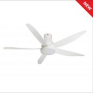 KDK U60FW (short rod) Remote Ceiling Fan (White)
