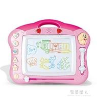 兒童畫畫板寫字板帶音樂磁性畫板彩色寶寶大號繪畫塗鴉玩具1-3歲 七色堇
