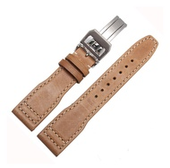 Embossed & Smooth Leather Band Watch Strap 22mm for IWC Pilot's IW377709 IW502802 Watchs