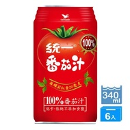 【統一】蕃茄汁6入/組(低卡、低鈉不添加食鹽)