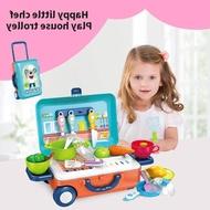 hot Annie ชุดกระเป๋าของเล่น ชุดเครื่องครัวเด็ก ชุดแต่งหน้าเด็ก กระเป๋าเดินทาง ของเล่นกระเป๋าเดินทาง ของเล่นเด็ก กระเป๋าเดินทาง