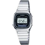 Casio Digital นาฬิกาข้อมือผู้หญิง สีเงิน สายสแตนเลส รุ่น LA670WA