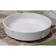 大同瓷器象牙色強化水盤 羹皿 深盤 強化盤子
