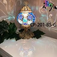 馬賽克土耳其手工銅雕燈飾 土耳其燈 夜燈直徑13cm C-pony 燈飾土耳其燈  檯燈 CP-201-BS