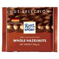 【買四送一、贈品隨機】Ritter Sport 全榛果巧克力100g