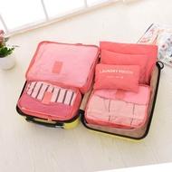 กระเป๋าเก็บของ 6 ชิ้น กระเป๋าอเนกประสงค์ กระเป๋าใส่เครื่องสำอาง เซท 6 ชิ้น กระเป๋าจัดระเบียบ เดินทางท่องเที่ยว