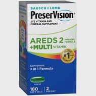 Bausch & Lomb, PreserVision AREDS2 Formula + Multivitamin, 180 Softgels