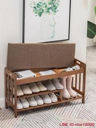 鞋櫃鞋架簡易家用實木鞋櫃北歐收納凳門口可坐穿鞋凳簡約現代換鞋凳 JD CY潮流站