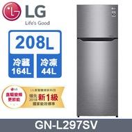 【LG 樂金】208公升變頻上下門冰箱(GN-L297SV)