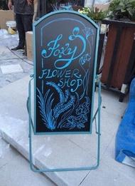 [便利小舖] 餐廳咖啡店面廳店鋪門口看板menu菜單廣告招牌可愛醒目A字型落地式黑板寫字板子 5027c