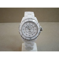 CHANEL 香奈兒 J12  原廠真品 12顆真鑽 陶瓷 機械錶 38mm H1629