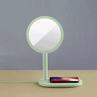 emoi - 3合1快速無線充電 LED化妝鏡枱燈-粉綠色(原廠行貨)