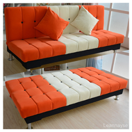 Small Apartment Sofa Dual-Use Economical Simple Sofa Bed Sofa Bed Rental Multi-Function Folding Clearance Cheap