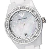 Women's Emporio Armani AR1426 Ceramic White Chronograph Watch