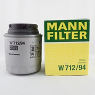MANN 機油芯 W712/94 適用 GOLF TIGUAN SCIROCCO JETTA TOURAN CADDY