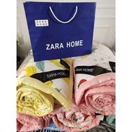 【現貨50種款式】 zara home 爆款西班牙ZARA 夏涼被 水洗棉夏被 空调被可機洗 蠶絲薄被子 實拍圖