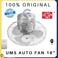 """◑◄✇[LIMITED OFFER] UMS/KHIND AUTO FAN 16"""" (360 DEGREE) KIPAS SILING AUTO UMS 16""""/18"""""""