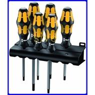 德國Wera 977/6 星形螺絲起子組套:鑿型貫通螺絲起子 + 展示架 6支組星形中空 貫通起子