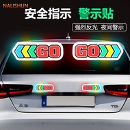 Reflective Stickers Safety Indicator Decal GO Arrow Marks Reflective Car Stickers