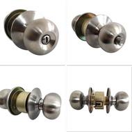 ◆Door Knob Lockset Keyless Round Ball Style Handle Privacy Bedroom Bathroom Handle Lockset Stainless