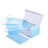 [現貨供應] 50入防飛沫口罩 面罩 三層口罩 非3M CE認證 證書 一次性口罩 藍色三層 熔噴不織布