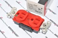 美國 COOPER AH8200RD 15A 125V NEMA 5-15 DUPLEX型 單聯雙電源 醫療級插座