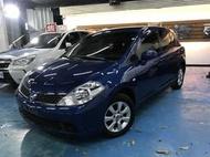 全台最便宜 實車實價 Nissan TIIDA 5D 1.8藍色 2010年 非自售 一手車 女用車