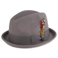 Brixton Gain Fedora 紳士帽 (灰)《Jimi Skate Shop》