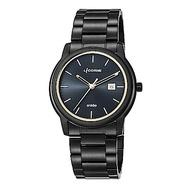 LICORNE力抗錶 品味時光都會手錶 黑金x黑/42mm