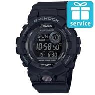 【CASIO 卡西歐】G-SHOCK 活力充沛計步藍芽運動電子錶-黑(GBD-800-1B)