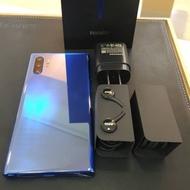 二手超新美品 三星SAMSUNG Galaxy NOTE10+ plus 12G/256G 籃色盒裝配件完整 9.9成新