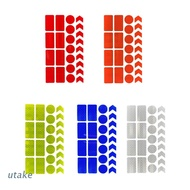 Utake Visibility Reflective Stickers Reflective Tape Stickers for Motorcycle Bicycle