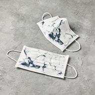 潑墨時尚系列 | 卡拉拉白色大理石 | 30 入 1 盒 | 成人醫療口罩