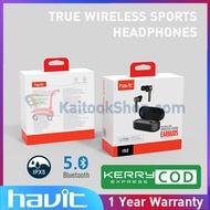หูฟัง Bluetooth ไร้สาย กันน้ำ | HAVIT® i92 TRUE WIRELESS SPORTS HEADPHONES # 1 Year Warranty