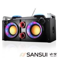 【SANSUI 山水】SANSUI音霸藍芽/廣播/USB/AUX/卡拉OK隨身音響(SBK777)