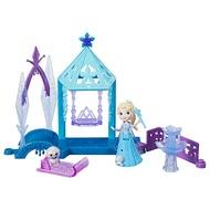 孩之寶(Hasbro)冰雪奇緣 男孩女孩兒童玩具手辦玩偶娃娃生日禮物禮盒 迷你人物迷你場景組艾莎公主E0233