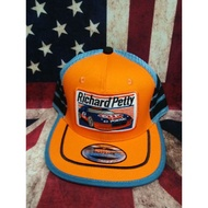 RICHARD PETTY CAP VINTAGE TRUCKER 3LINE SNAPBACK TAG MADE IN USA