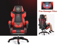 [Free Pillow Massager] New Luxury Gaming Chair Office Chair Racing Style Adjustable Gaming Chair Home Gaming Chair Ergonomic Human Design Chair Design For Gamer Synthetic Leather Chair 360 Degree Swivel Chair
