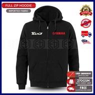 Zip Hoodie Tech3 Yamaha Racing Team Embroidery KTM MotoGP Motorcycle Motosikal Superbike Bike Casual 125Z LC RXZ TZM