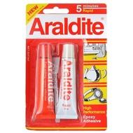 น้ำมัน ARALDITE กาวอีพ็อกซี่ อารัลไดท์ รุ่น Rapid Steel แบบผสม 2 หลอด สีใส (หลอดสีแดง)้ำมัน ARALDITE กาวอีพ็อกซี่ อารัลไ