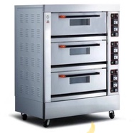 Brand new commercial electric and gas oven 3 deck 6 trays