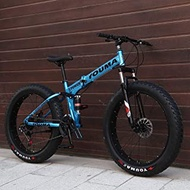 Men's Mountain Bikes, 26 Inch Fat Tire Hardtail Mountain Bike, Dual Frame And Fork All Terrain Mountain Bicycle Adult