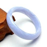 水晶藍瑪瑙 16mm海藍玉髓手鐲女首飾品時尚新品